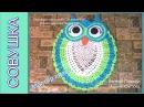Мастер класс коврик для ванной Совушка часть 2/DIY bath mat Owl Part 2