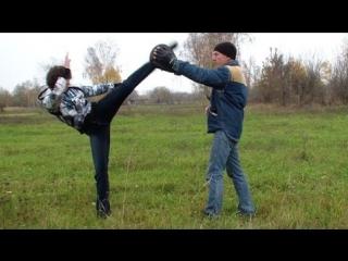 Удар ногой в голову. Драка. Как научиться драться