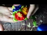 Цветы Канзаши Мастер класс Flowers Kanzashi masterclass Резинка для волос своими руками