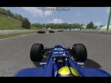 Gonki.me. Формула-1. F1 2001. Гран-при Венгрии. Инцидент на старте