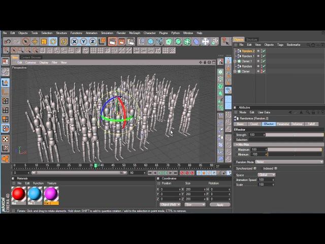 1 Cinema 4d Effectors overview / Обзор Эффекторов модуля Мограф/Mograph
