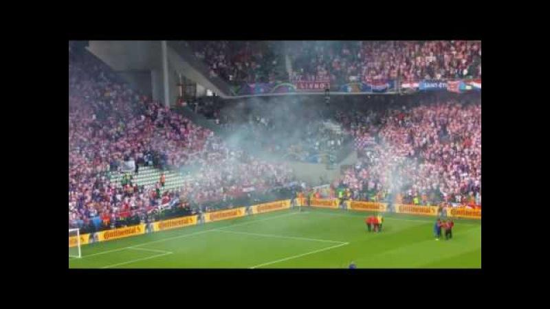 Беспредел хорватских фанатов на Евро-2016
