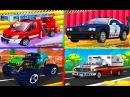 Мультики про машинки для детей Мойка Полицейская Пожарная машины Монстер Трак Все серии подряд