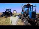Вторая пред посевная культивация, тракторами #ЮМЗ 6 и #МТЗ 82. #Сельхозтехника ТВ