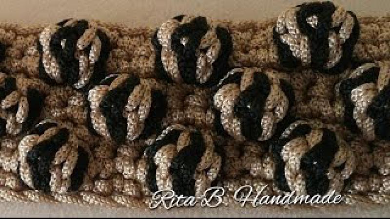 TUTORIAL PUNTO NOCCIOLINA BICOLOR - Crochet Bubble bicolor stitch