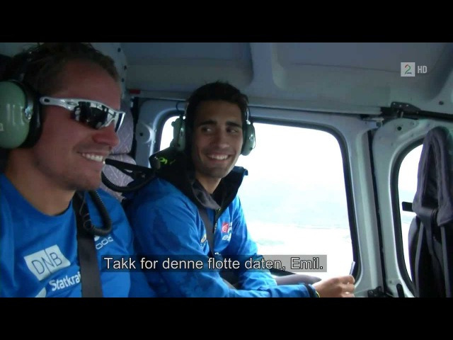 Martin Fourcade on a date with Emil Hegle Svendsen