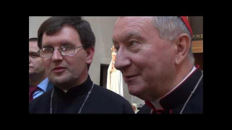Привітання кардинала П'єтро Пароліна в Санктуарії Бога Отця Милосердного м.Запоріжжя.