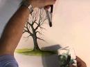 Рисуем деревья акварелью часть 1