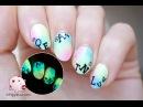 Pastel glow letters nail art tutorial
