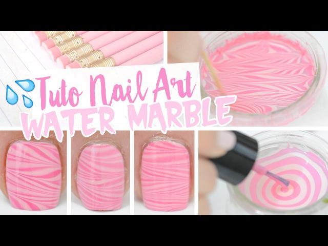 Nail art ♡ Water Marble et Tremper 2 ongles à la fois