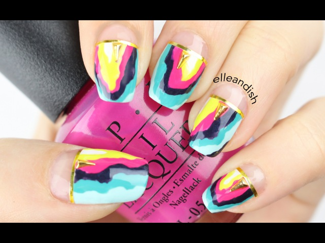 ❤ Colorful Geode / Agate Nails - Mani swap with Nina Nailed It! ❤