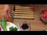 Салат с фасолью и авокадо ко дню рождения _ Лучший рецепт 2015 Красивое оформление столов!