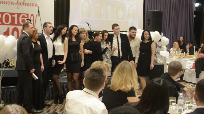 Награждение работников компании ДЖОНСОНС в Буковеле февраль2016 готель Реджиссон блу