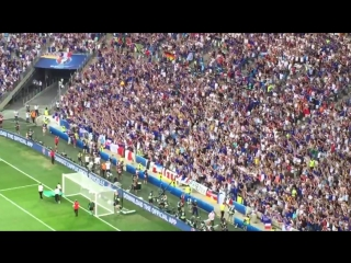 Фанаты Германии и Франции в честь исландцев зажгли знаменитой перекличкой