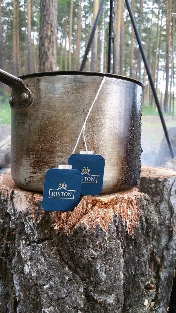 Тургояк. Чай в ковшичке, на костре - мм...))