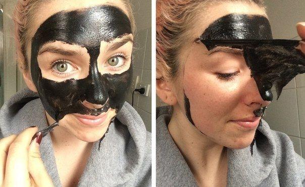 Черная маска от черных точек, Маска от черных точек, Домашняя черная маска