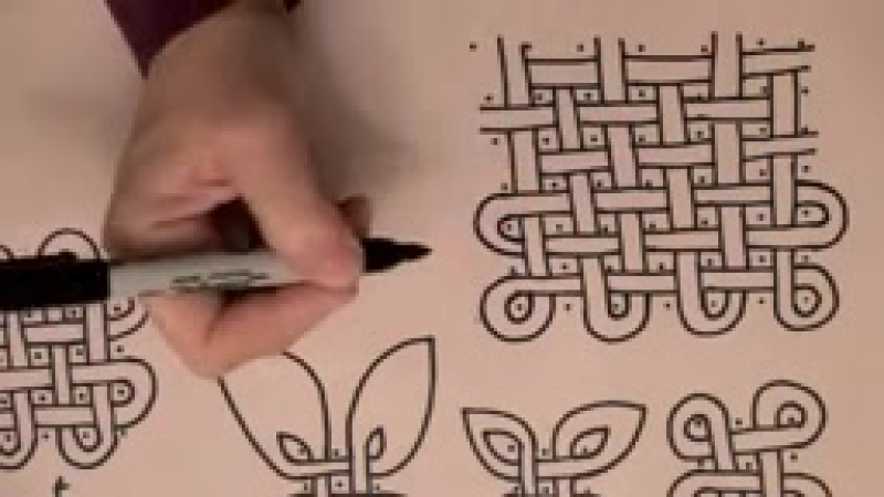 ASMR Style tutorial׃ Celtic Knotwork 1 (Celtic knot work, soft talk, whispering, drawing, triggers)