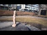 A small statue park near Linnansalmi bridge, Hmeenlinna, Finland