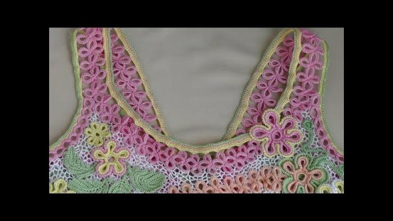 Как связать бретельки для сарафана. Ленточное кружево крючком - Crochet Lace