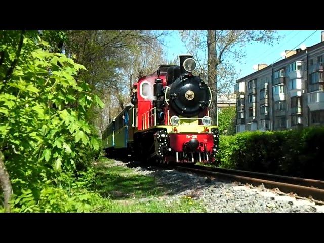 Паровоз ГР-336 с пассажирским поездом.