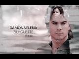 Damon and Elena - Silhouette