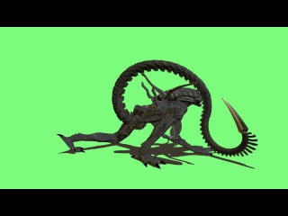 alien drone  animation poser 1080p s01r03 30fps green screen .avi