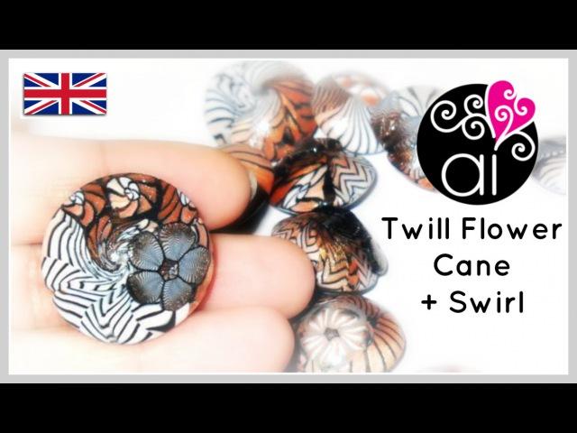 Twill Flower Cane Swirl | Polymer Clay Tutorial | English version