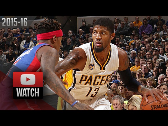 Paul George Full Highlights vs Pistons (2016.01.02) - 32 Pts, 14 Reb, Crazy 4th Qtr!