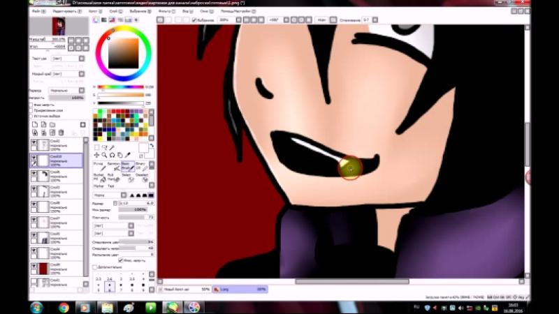 Vinsent purple guy speedpaint creepy gold ксения