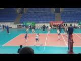 Отборочные игры к Чемпионату Европы 2016 по волейболу (девушки до 19 лет) Россия : Польша