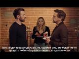 РУС.СУБ.|Chris Evans, Robert Downey Jr Elizabeth Olsen - Tony Steals The Last Donut