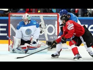 Видео лучших моментов матча Казахстан - Швейцария на чемпионате мира