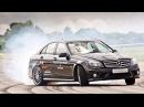 Мировой рекорд по дрифту установлен на Mercedes Benz C63 AMG