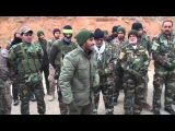 Syria, Aleppo, Iraqi Iraq Badr Military Wing Allies of Syrian Arab Army Celebrating Victories