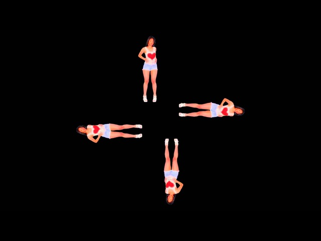 SEXY GIRLS видео для голографической 3D пирамиды