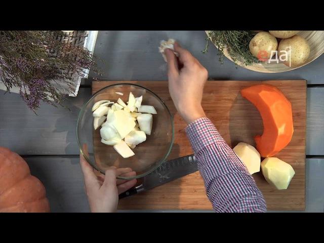 Картофельный крем-суп с льняным маслом