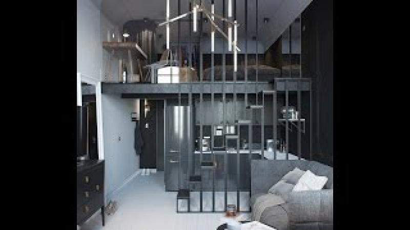 Двухъярусная Маленькая Квартира Студия 24 кв.м. (фото)