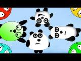 🐾 Четыре панды 3! Пещерные приключения на острове! Мультик Игра. Мультфильм для ...