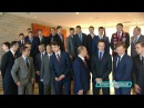 Latvijas hokeja izlase viesojas pie valsts prezidenta Raimonda Vējoņa