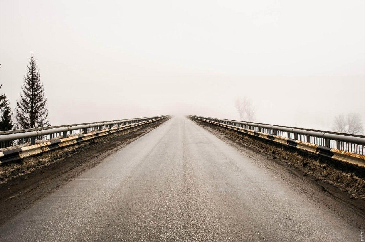 Мост через реку Уфа, в никуда