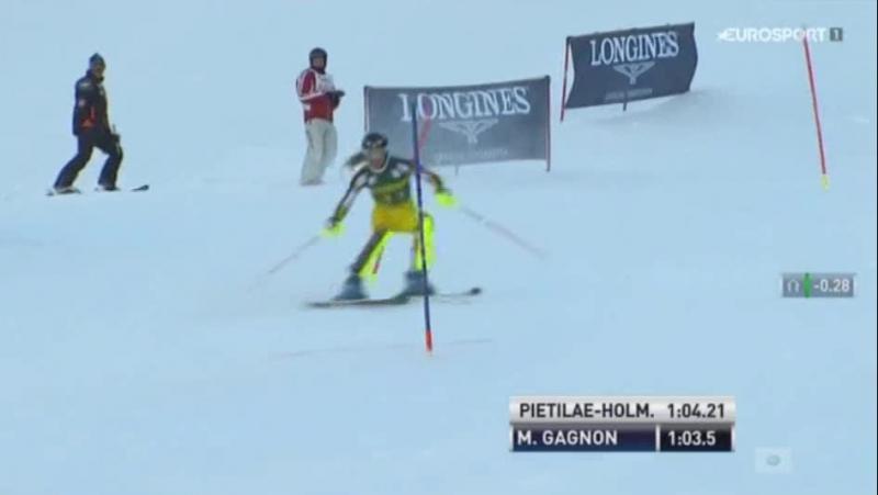 FIS Alpine WC15-16г. SL 2-RUN, Aspen США , жен. 28,11,15г.
