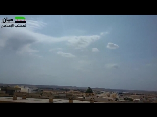 Сирия.Массированный бомбовый удар по террористам в городе Хаян,мухафаза Алеппо..
