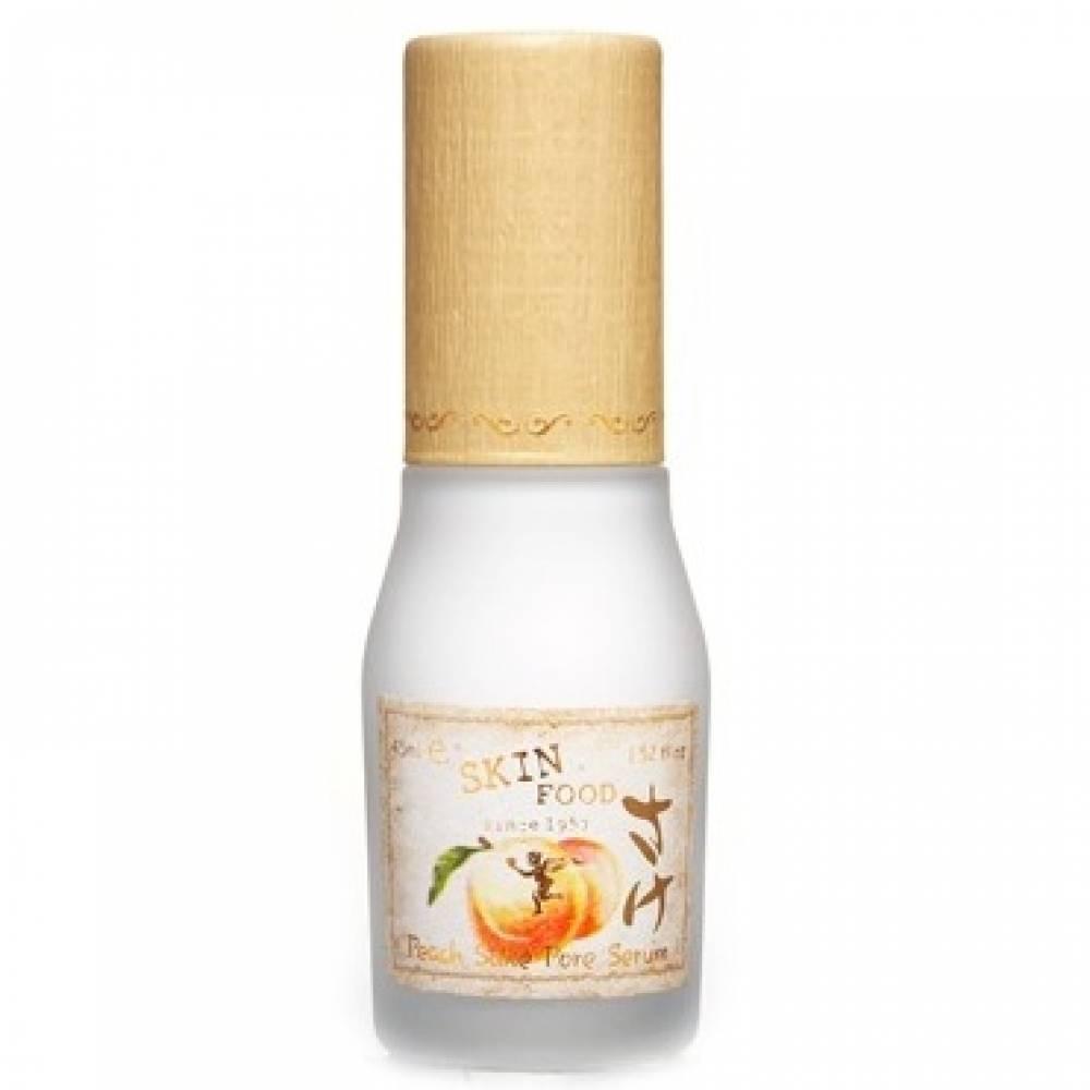 Увлажняющая сыворотка для сужения пор и матирования кожи skin food peach sake pore serum - интернет магазин корейской косметики.
