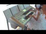 10-летняя девочка исполняет саундтрек к фильму Назад в будущее