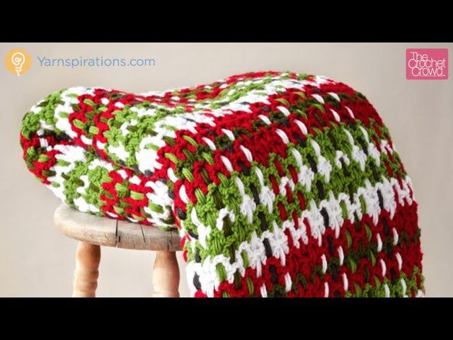 Crochet Plaid Woven Afghan