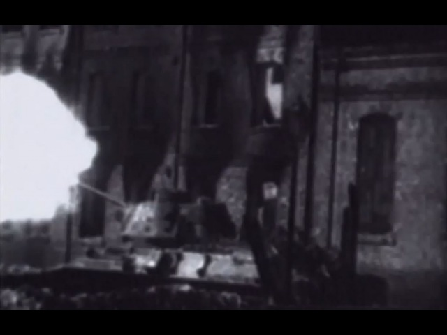 Warsaw Poland Russian Army Assault on Suburb of Praga T34 Medium Tanks WW2 Footage