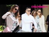 Jessica Alba Steps Out For Sunday Brunch At The Four Seasons With Her Family For Mother's Day