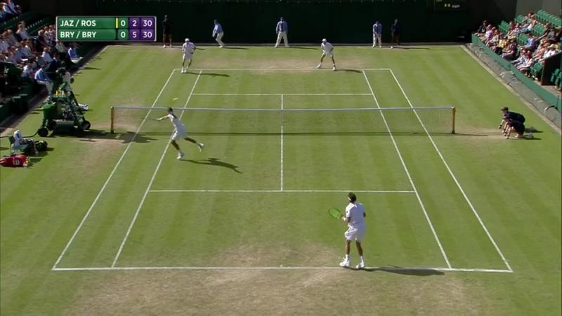 Bob Bryan - Mike Bryan vs Malek Jaziri - Lukas Rosol (2016 Wimbledon - 2nd Round)