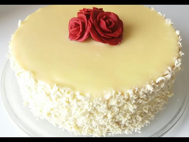 Торт АИША/Gâteau AISHAбелоснежный торт с белым шоколадом