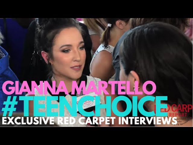 Gianna Martello DanceMoms interviewed at the 2016 Teen Choice Awards Teal Carpet TeenChoice